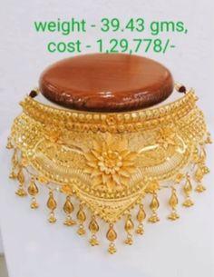 Jewelry Design Earrings, Gold Jewellery Design, Diamond Jewellery, Silver Jewellery, Necklace Designs, Indian Jewelry, Choker Necklaces, Gold Choker, Necklace Set