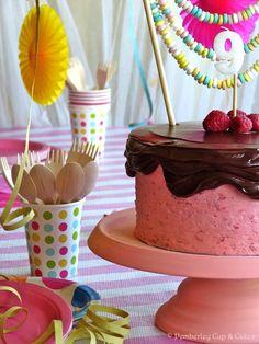 Devil's Food Cake with Raspberry Buttercream