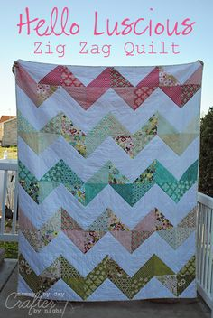 Zig zag quilt with layer cakes