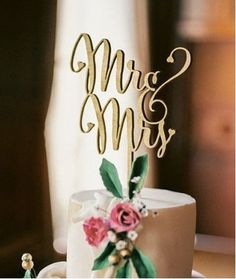 Mr And Mrs Cake Topper Laser Cut Wood Wedding Cake Topper Gold - Silver For Choose Wedding Decorations Supplies