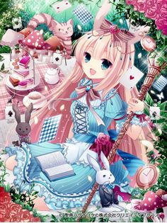Alice in Wonderland Kawaii^-^ Manga Anime, Manga Kawaii, Chibi Anime, Loli Kawaii, Kawaii Anime Girl, Anime Girls, Anime Love, Beautiful Anime Girl, Anime Fashion