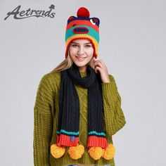 Winter Beanie Scarf Set 2Pcs Women's Hat and Scarves Warm Hats Caps $22.70 => Save up to 60% and Free Shipping => Order Now! #fashion #woman #shop #diy http://www.scarfonline.net/product/aetrends-2016-new-winter-beanie-scarf-set-2pcs-womens-hat-and-scarves-warm-hats-caps-z-1337/