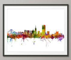 San Francisco Skyline Art Print 1201 by artPause on Etsy