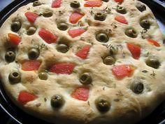 Focaccia talianska chlebová placka Orzo Recipes, Cooking Recipes, Flatbread Pizza, Polenta, Italian Recipes, Risotto, Favorite Recipes, Olympus, Digital Camera