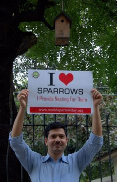 He provides nesting sites for sparrows and conserves them
