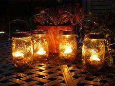 Four Ball Mason Jar Lantern Candle Hanging by organicmountainwoman