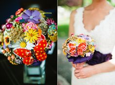 Handmade brooch bouquet by The Ritzy Rose etsy shop. Photos by Kate Connolly Photography. #handmade #brooch #bouquet #bridal #weddings