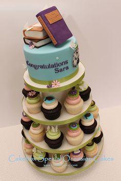Teacher Graduation Cupcake Tower by cakeboxsoc, via Flickr