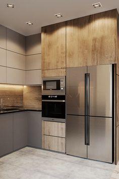 Kitchen Bar Design, Home Decor Kitchen, Home Kitchens, Kitchen Living, Loft Interior Design, Home Room Design, Modern Kitchen Interiors, Bathroom Design Inspiration, Home Decor Hacks