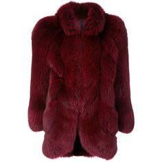 Christian Dior Vintage fox fur coat ❤ liked on Polyvore featuring outerwear, coats, christian dior, fox fur coat, red fox fur coat, red coat and christian dior coat