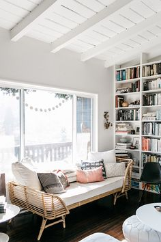 Reading nook with rattan daybed