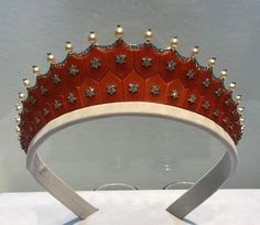 An Art Deco Coral And Diamond Tiara by CARTIER. New York Magnificent Jewels 06.20.2017