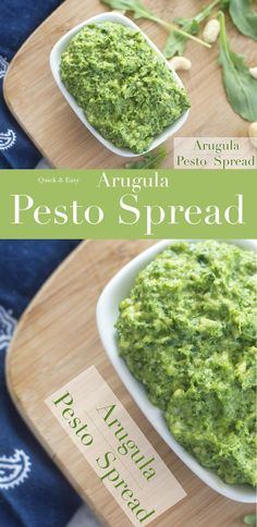 This vegan arugula pesto recipe is made with cashews and nutritional yeast. Use this pesto recipe in a pasta dinner or as a sandwich spread. Simple pesto