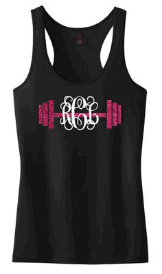9b5f4bf3a7a Personalized barbell racerback tank top(juniors fit)