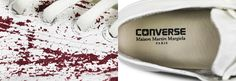 Todos os exemplares fora pintados a mão e trazem a cor branca sobre a tradicional lona dos modelos já conhecidos da Converse.