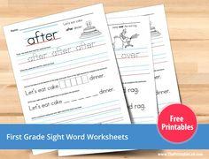 free first grade - sight words worksheets printables
