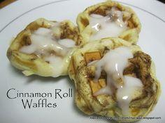 Cinnamon Roll Waffles (cinnamon rolls in the waffle maker)