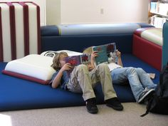 @Rebekah Bowers   We totally NEED these in the new library! Book Pillows: Children's Library Decor.