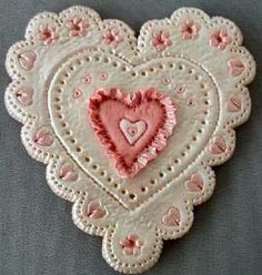 Fondant Covered Heart Cookie