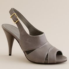 J Crew Julienne leather heels: chic, versatile and classic sandal in style and color