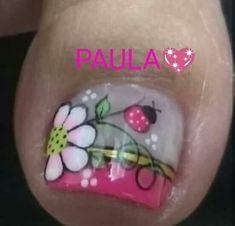 Pedicure Designs, Toe Nail Designs, French Manicure Nails, Manicure And Pedicure, Toe Nail Art, Toe Nails, New Nail Art Design, Feet Nails, Designed Nails