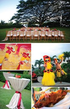 6 Fun Rehearsal Dinner Ideas | Wedding 101 Greenville, SC | Host a destination theme rehearsal dinner! Luau anyone?