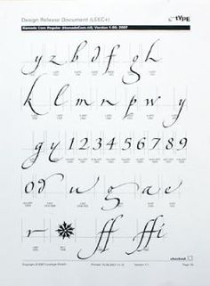 Gaynor Goffe, Hamada typeface for Linotype http://www.gaynorgoffe-calligraphy.co.uk/Resources/joshuausa057.jpeg