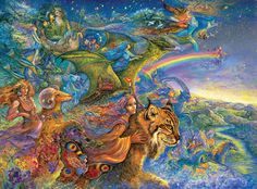 "Love this fantasy jigsaw puzzle by Josephine Wall that is based on her fantasy art paint ""The Race""!"