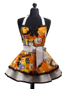 HALLOWEEN Pin Up Sexy Hocus Pocus Double Skirt by bambinoamore