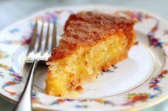 French Coconut Pie - recipe from Tasty Kitchen Easy Desserts, Delicious Desserts, Dessert Recipes, Yummy Food, Pie Dessert, Tasty Kitchen, Coconut Recipes, Baking Recipes, French Coconut Pie
