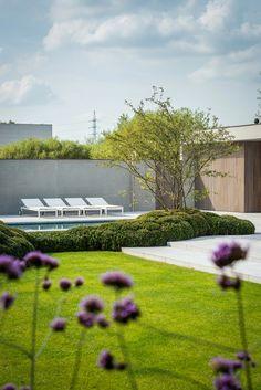 Contemporary Garden Design, Modern Landscape Design, Home Garden Design, Landscape Architecture, Courtyard Landscaping, Modern Landscaping, Outdoor Landscaping, Outdoor Plants, Scandi Garden