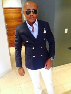 256a8e9f0198 MJ rocking a double breasted Navy Blazer with Gold buttons and stunning  white chinos. My Mens Fashion Preppy