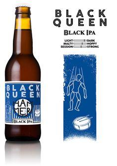 Hammer - Black Queen Black IPA   Italian Craft Beer