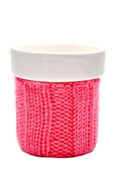 knit cozy mug