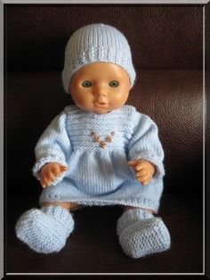 Lilou Baby Born Clothes, Crochet Baby Clothes, Pet Clothes, Girl Dolls, Baby Dolls, Reborn Dolls, Knitted Dolls, Crochet Dolls, Doll Clothes Patterns