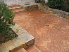 Colonial, Terracotta Floor, Backyard Privacy, Brick Flooring, Brick Patios, House Landscape, Balcony Garden, Tuscany, Terrazzo
