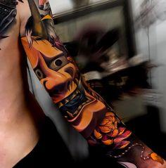 The meaning of 18 tattoo elements - Wormhole Tattoo 丨 Tattoo Kits, Tattoo machines, Tattoo supplies Japanese Tattoo Symbols, Japanese Tattoo Art, Japanese Tattoo Designs, Japanese Sleeve Tattoos, Full Sleeve Tattoos, Tattoo Sleeves, Koi Tattoo Sleeve, Hannya Maske, Hanya Mask Tattoo