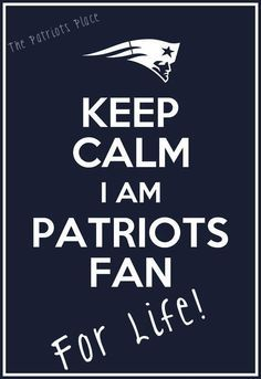 Patriots fan for life! Can't wait for football season to start!