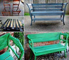 """<input class=""""jpibfi"""" type=""""hidden"""" >Turn your old chairs into this fantastic bench, what a great idea ! What you do, basically, is evident from the pictures above. You keep ornate chair backs and the legs but join the chairs together by a unifying seating, it can be styled to go with any style preferences .This is a very versatile…"""