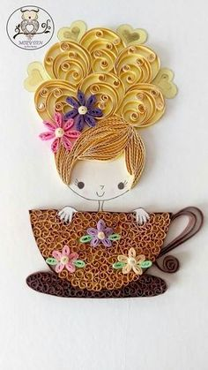 40 Creative Paper Quilling Designs and Artworks 40 Creative Paper Quilling Designs and Graphics Paper Quilling Tutorial, Paper Quilling Patterns, Quilled Paper Art, Quilling Paper Craft, Paper Crafts, Quilling Letters, Kirigami, Neli Quilling, Quiling Paper