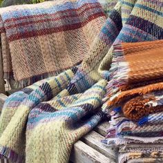 Checked Picnic Rug - autumn evenings