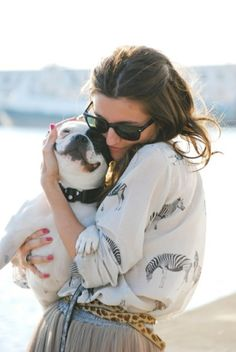 A Girl's Best Friend...love seeing good fashion and cute pooches! #caninecouture #dogs #fashion