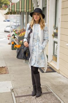 A statement coat in a pale hue is super trendy at the moment   via Gal Meets Glam