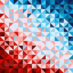 Abstract geometric background, red and blue — Stock Illustration Triangle Background, Red Background, Textile Patterns, Cool Patterns, Marketing Articles, Blue Poster, Image Fun, Green Pattern, Pattern Wallpaper