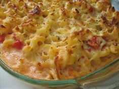 Baked Macaroni and Cheese with Tomatoes. Simple to make, delicious, often requested recipe.