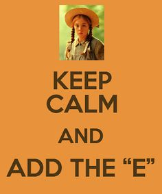 Anne with an E! Love Anne of Green Gables! Anne Auf Green Gables, Road To Avonlea, Anne Shirley, Kindred Spirits, Prince Edward Island, Period Dramas, Call Her, Keep Calm, Book Worms