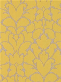 yellow wallpaper - could be fun in the back of a bookshelf