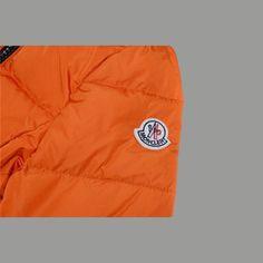 Doudoune Moncler Pas Cher Femme Courte 12W Orange