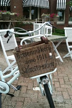 Rustic Rattan Bicycle Basket (accessoires)