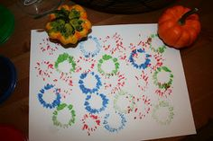 The Little People Place: Fall Stamping. Mostly M just wanted to paint the pumpkins.